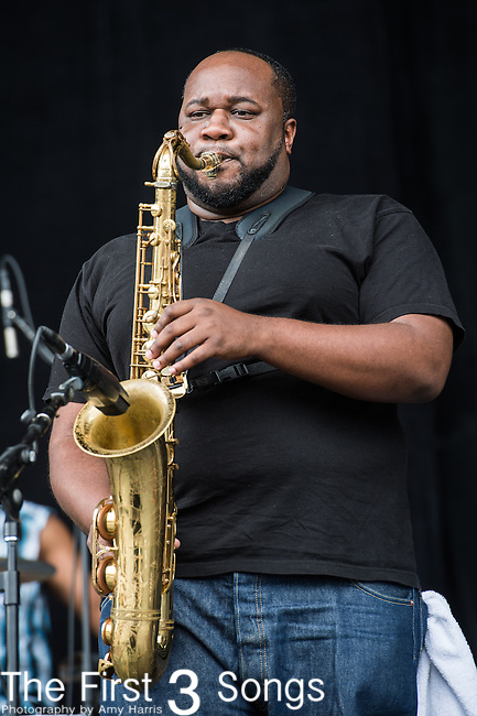 Erion Williams of The Soul Rebels performs at the Outside Lands Music & Art Festival at Golden Gate Park in San Francisco, California.
