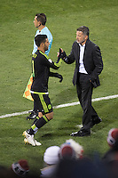 Columbus, Ohio - Friday, November 11, 2016: Carlos Vela, Juan Carlos Osorio during a USMNT vs Mexico WCQ at Mapfre Stadium. Mexico defeated the USA 2-1.