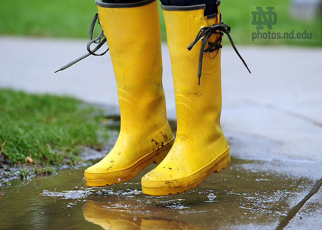 """Photos for ND Magazine """"boots"""" back cover..Photo by Matt Cashore/University of Notre Dame"""
