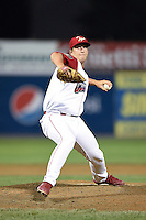 Williamsport Crosscutters pitcher Scott Harris (51) delivers a pitch during a game against the Aberdeen IronBirds on August 4, 2014 at Bowman Field in Williamsport, Pennsylvania.  Aberdeen defeated Williamsport 6-3.  (Mike Janes/Four Seam Images)