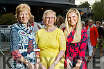 Yvonne Blennerhassett, Phyllis Mason and Annmarie Blennerhasset (Tralee) at the Rose of Tralee fashion show at the dome on Sunday night.