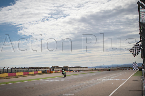 03.04.2016. Motorland, Aragon, Spain, World Championship Motul FIM of Superbikes. Kenan Sofuoglu #1, Kawasaki ZX-6R rider of Supersport winning the World Championship Motul FIM of Superbikes from the Circuito de Motorland.