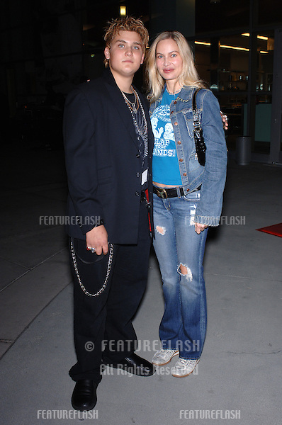 Actor WESTON CAGE, 14 year-old son of Nicolas Cage, & mother actress CHRISTINA FULTON at screening in Los Angeles for his first movie Lord of War which stars Nicolas Cage..September 16, 2005  Los Angeles, CA..© 2005 Paul Smith / Featureflash