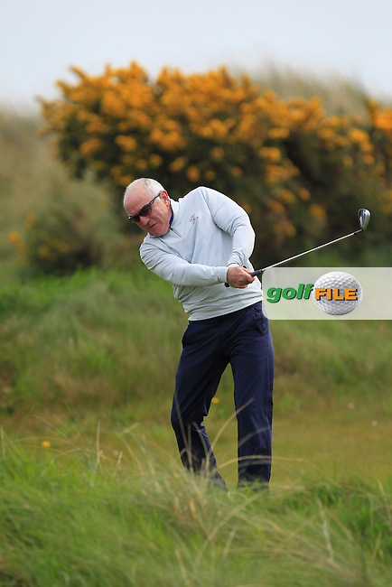 playing with Jack Hume (Naas) on the 8th tee during the Flogas Irish Amateur Open Championship Am-Am at Royal Dublin on Monday 9th May 2016.<br /> Picture:  Thos Caffrey / www.golffile.ie
