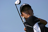 August 21, 2004; Dublin, OH, USA;  14 year old amateur Michelle Wie tees off during the 3rd round of the Wendy's Championship for Children golf tournament held at Tartan Fields Golf Club.  <br />Mandatory Credit: Photo by Darrell Miho <br />&copy; Copyright Darrell Miho