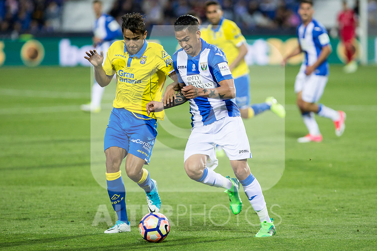 Alberto Martin of Club Deportivo Leganes during the match of La Liga between Deportivo Leganes and Union Deportiva Las Palmas  Butarque Stadium  in Madrid, Spain. April 25, 2017. (ALTERPHOTOS/Rodrigo Jimenez)