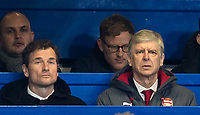 Arsenal Manager Arsene Wenger & Coach Jens Lehmann during the Carabao Cup semi final 1st leg match between Chelsea and Arsenal at Stamford Bridge, London, England on 10 January 2018. Photo by Andy Rowland.