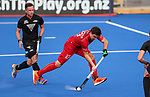 Arthur de Sloover of Belgium during the Pro League Hockey match between the Blacksticks men and Belgium, National Hockey Arena, Auckland, New Zealand, Sunday 2 February 2020. Photo: Simon Watts/www.bwmedia.co.nz