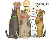 Kate, CUTE ANIMALS, LUSTIGE TIERE, ANIMALITOS DIVERTIDOS, paintings+++++Cat Dog gang #,GBKM60,#ac#, EVERYDAY ,cat,cats ,dogs,dog