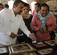 Mexican singer Juan Gabriel seen shopping at the Fox Center in San Francisco del Rincón, in Leon Guanajuato in México. Gabriel was accompanied by former first lady, Marta Sahagún wife of Vicente Fox ex president of Mexico. June 2, 2012. Photo: Tirador Tercero/NortePhoto/MediaPunch Inc. ***NO MEXICO*** ***NO SPAIN***
