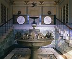 Schloss Charlottenhof,  Park Sanssouci, Potsdam, Germany  (1826-29) Marble vestibule with fountain.