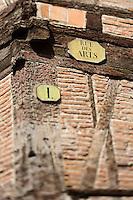 Europe/France/Midi-Pyrénées/31/Haute-Garonne/Toulouse: Rue des Arts,  maison à colombages de Massécanat (XVIème Siècle)