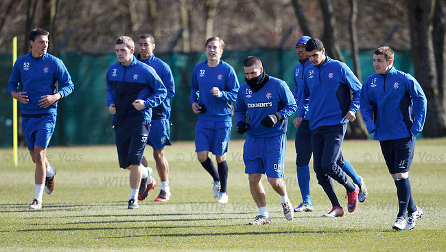 The Rangers walking wounded training at Murray Park