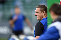Bath Rugby first team coach Toby Booth looks on during the pre-match warm-up. Heineken Champions Cup match, between Bath Rugby and Stade Toulousain on October 13, 2018 at the Recreation Ground in Bath, England. Photo by: Patrick Khachfe / Onside Images