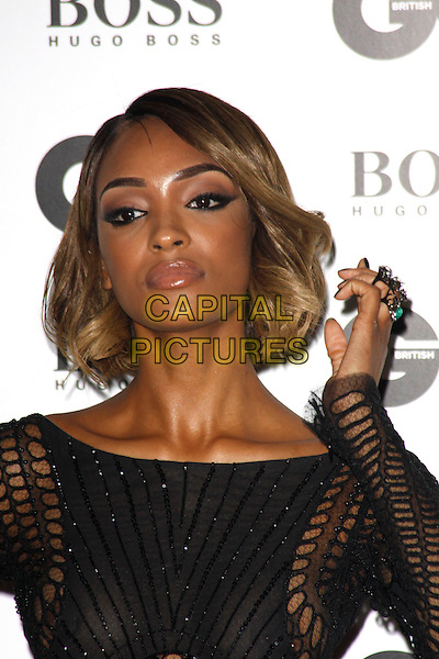 LONDON, ENGLAND - SEPTEMBER 02 :   Jourdan Dunn arrives at the GQ Men Of The Year 2014 at The Royal Opera House on September 02, 2014 in London, England.<br /> CAP/AH<br /> &copy;Adam Houghton/Capital Pictures