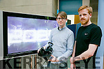 Revolution - IT Tralee Creative Media end of year project exhibition on Friday at North campus IT Tralee. Pictured Christian Gyalus and Ewan Lane with their project 2085 virtual reality experience