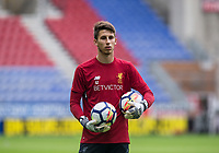 Goalkeeper Kamil Grabara of Liverpool ahead of the pre season friendly match between Wigan Athletic and Liverpool at the DW Stadium, Wigan, England on 14 July 2017. Photo by Andy Rowland.
