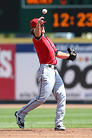Richmond Flying Squirrels Charlie Culberson #6 during a game against the Erie Seawolves at Jerry Uht Park on July 27, 2011 in Erie, Pennsylvania.  Richmond defeated Erie 4-2.  (Mike Janes/Four Seam Images)