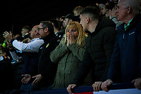 Leeds United fans watch on during the second half<br /> <br /> Photographer Alex Dodd/CameraSport<br /> <br /> The EFL Sky Bet Championship - Preston North End v Leeds United - Tuesday 22nd October 2019 - Deepdale Stadium - Preston<br /> <br /> World Copyright © 2019 CameraSport. All rights reserved. 43 Linden Ave. Countesthorpe. Leicester. England. LE8 5PG - Tel: +44 (0) 116 277 4147 - admin@camerasport.com - www.camerasport.com