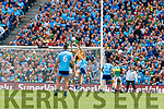 Shane Ryan, Kerry makes a save in the dying moments of the GAA Football All-Ireland Senior Championship Final match between Kerry and Dublin at Croke Park in Dublin on Sunday.