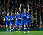 Phil Jagielka of Everton celebrates scoring the first goal during the English Premier League match at Old Trafford Stadium, Manchester. Picture date: April 4th 2017. Pic credit should read: Simon Bellis/Sportimage