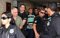 RIO DE JANEIRO,14 DE  FEVEREIRO DE 2012- JULGAMENTO DE MILICIANOS CONHECIDOS COMO LIGA DA JUSTIÇA - Vão ser julgados nesta terça-feira (14) quatro acusados de integrar uma das maiores milícias da Zona Oeste do Rio. O ex-PM Luciano Guinancio Guimarães; Leandro Paixão Viegas, o Leandrinho Quebra-Ossos; o ex-deputado estadual Natalino José Guimarães (C) (FOTO); e seu irmão, o ex-vereador Jerônimo Guimarães Filho, o Jerominho, serão julgados por uma tentativa de homicídio ocorrida em 2005. Todos cumprem pena por formação de quadrilha na penitenciária federal de Campo Grande, em Mato Grosso do Sul.FOTO: GUTO MAIA - NEWS FREE