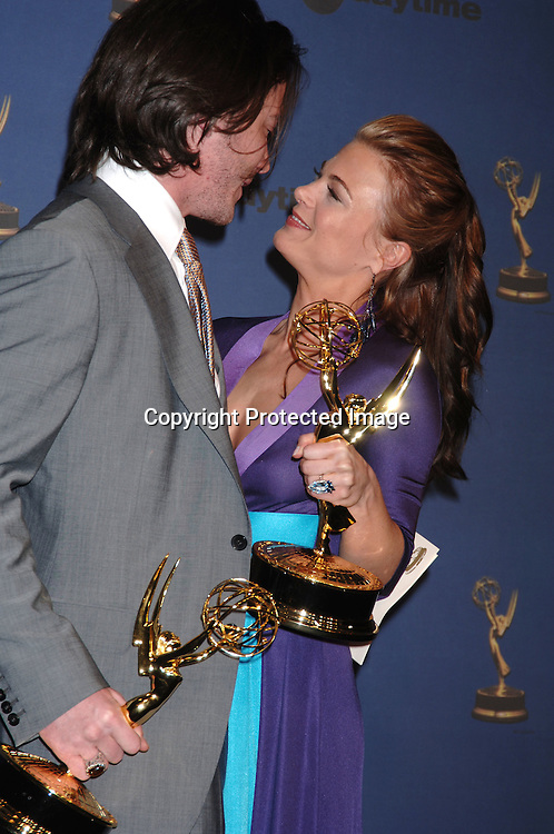 Tom Pelphrey, winner for Younger Actor and Gina Tognoni, winner for Best Supporting Actress..in the Press Room  at the 33rd Annual Daytime Emmy Awards on April 28, 2006 at The Kodak Theatre in Hollywood, Californina. ..Robin Platzer, Twin Images