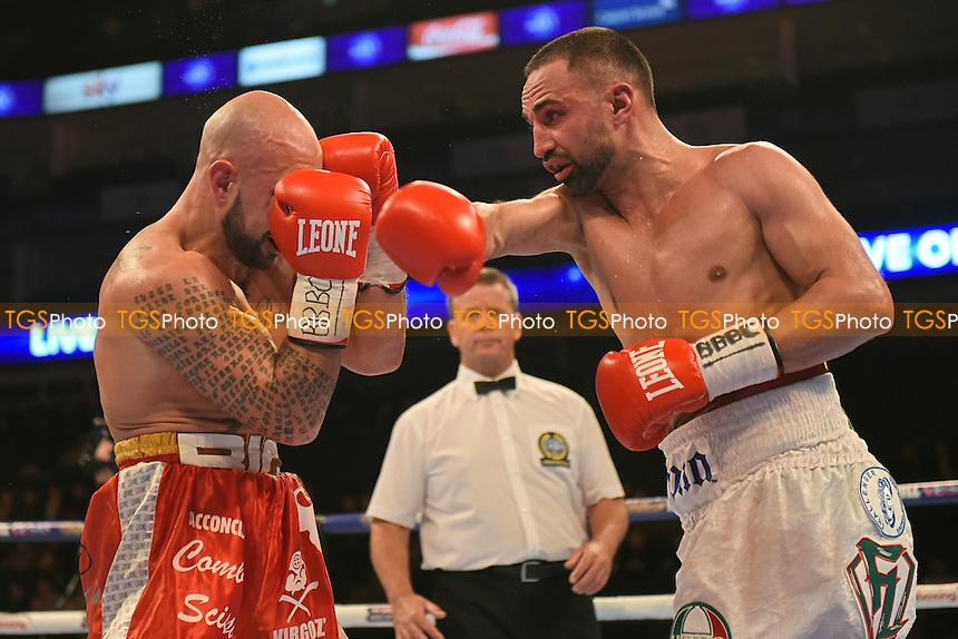 Paul Malignaggi (white shorts) defeats Antonio Moscatiello to win the vacant EBU Welterweight Title at the O2 Arena, London