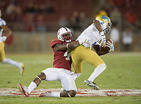 Stanford, Ca - Saturday, September 23, 2017: Alameen Murphy during a 58-34 Stanford victory over UCLA at Stanford Stadium.