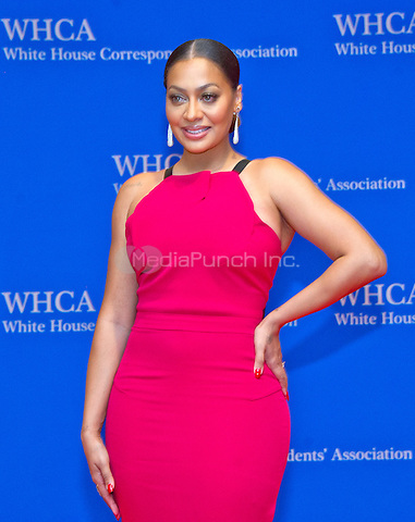 La La Anthony arrives for the 2016 White House Correspondents Association Annual Dinner at the Washington Hilton Hotel on Saturday, April 30, 2016.<br /> Credit: Ron Sachs / CNP<br /> (RESTRICTION: NO New York or New Jersey Newspapers or newspapers within a 75 mile radius of New York City)/MediaPunch