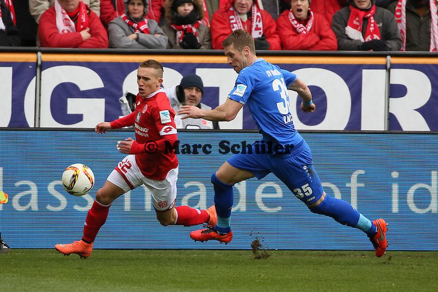 Pablo de Blasis (Mainz) gegen Slobodan Rajkovic (Darmstadt) - 1. FSV Mainz 05 vs. SV Darmstadt 98, Coface Arena
