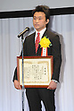 Toshiaki Nishioka,.JANUARY 25, 2012 - Boxing :.Professional's MVP winner Toshiaki Nishioka speaks during the Japan's Boxer of the Year Award 2011 at Tokyo Dome Hotel in Tokyo, Japan. (Photo by Hiroaki Yamaguchi/AFLO)