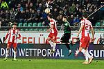 14.02.2020, Preußenstadion, Münster, GER, 3.FBL, SC Preussen Muenster vs. FC Wuerzburger Kickers, <br /> <br /> DFL REGULATIONS PROHIBIT ANY USE OF PHOTOGRAPHS AS IMAGE SEQUENCES AND/OR QUASI-VIDEO<br /> <br /> im Bild<br /> v. li. im Zweikampf Patrick Sontheimer (FC Würzburger Kickers #12) und Kevin Rodrigues Pires (SC Preußen Münster #10)<br /> <br /> Foto © nordphoto / Paetzel