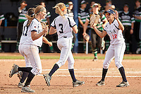 SAN ANTONIO, TX - MARCH 12, 2016: The University of Texas at San Antonio Roadrunners sweep both games of a double header against the University of North Texas Mean Green (3-2, 8-6) at UTSA Roadrunner Field. (Photo by Jeff Huehn)