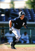 Brandon Inge of the Detroit Tigers organization plays in a California Fall League game at The Epicenter circa October 1999 in Rancho Cucamonga, California. (Larry Goren/Four Seam Images)