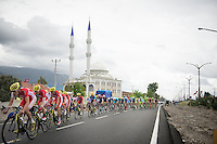 peloton lead by Team Cofidis drives by mosk<br /> <br /> Tour of Turkey 2014<br /> stage 4