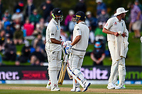 Ish Sodhi and Neil Wagner of the Black Caps get though another over during the final day of the Second International Cricket Test match, New Zealand V England, Hagley Oval, Christchurch, New Zealand, 3rd April 2018.Copyright photo: John Davidson / www.photosport.nz