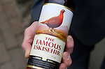 St Johnstone FC Chairman Steve Brown presented a bottle of the specially labelled 'The Famous Eskieshir' whisky to Halil Unal President of Eskieshirspor who St Johnstone are playing in Uefa Cup Qualifyer. They are pictured at The Famous Grouse Experience in Crieff where the Turkish guests were given a guided tour ahead of tonight's match at McDiarmid Park....26.07.12.Picture by Graeme Hart..Copyright Perthshire Picture Agency.Tel: 01738 623350  Mobile: 07990 594431