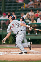 Nathan Hanson of the Ft. Myers Miracle during the game against the Daytona Cubs July 15 2010 at Jackie Robinson Ballpark in Daytona Beach, Florida. Photo By Scott Jontes/Four Seam Images