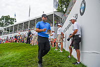 Patrick Reed (USA) heads for the tee on 18 during Rd4 of the 2019 BMW Championship, Medinah Golf Club, Chicago, Illinois, USA. 8/18/2019.<br /> Picture Ken Murray / Golffile.ie<br /> <br /> All photo usage must carry mandatory copyright credit (© Golffile | Ken Murray)