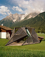 Ulla Hell's modern chalet looks as if it has dropped into the South Tyrolian valley from another planet