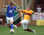 Seamus Coleman tackled by Steven Hammell