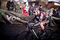 strong racing by Eli Iserbyt (BEL/Pauwels Sauzen-Bingoal)<br /> <br /> Azencross Loenhout 2019 (BEL)<br />  <br /> ©kramon