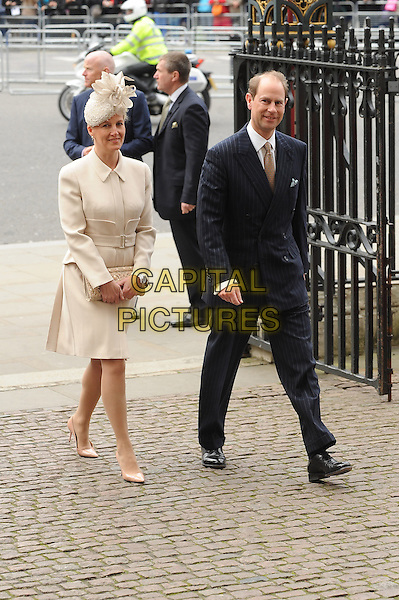 LONDON, ENGLAND - MARCH 10: Sophie, Countess of Wessex and Prince Edward, Earl of Wessex attend a Commonwealth Day Observance Service and Reception at Westminster Abbey on March 10, 2014 in London, England.<br /> CAP/BEL<br /> &copy;Tom Belcher/Capital Pictures