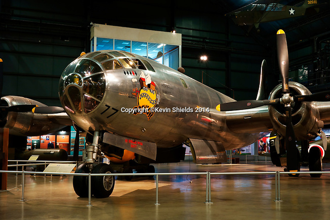 """B-29 bomber """"Bockscar"""" on display at the National Museum of the United States Air Force, Dayton, Ohio, USA"""