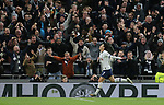 Tottenham's Son Heung-min celebrates after scoring to make it 3-0 during the Premier League match at the Tottenham Hotspur Stadium, London. Picture date: 7th December 2019. Picture credit should read: Paul Terry/Sportimage