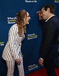 "Rachel Brosnahan and Jason Ralph attending the Broadway Opening Night Performance of  ""What The Constitution Means To Me"" at the Hayes Theatre on March 31, 2019 in New York City."