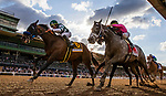 MAR 07: Combatant with Joel Rosario up defeates Multiplier and Tyler Gaffalione to win the Santa Anita Handicap at Santa Anita Park in Arcadia, California on March 7, 2020. Evers/Eclipse Sportswire/CSM