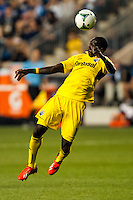 Dominic Oduro (11) of the Columbus Crew. The Philadelphia Union defeated the Columbus Crew 3-0 during a Major League Soccer (MLS) match at PPL Park in Chester, PA, on June 5, 2013.