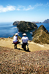 California: Santa Barbara. Couple at Channel Islands, Anacapa Island.  Photo #: casbar104.  Photo copyright Lee Foster, 510/549-2202, lee@fostertravel.com, www.fostertravel.com